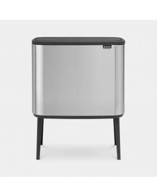 Bo Touch Bin 11 + 23 litre - Matt Steel Fingerprint Proof