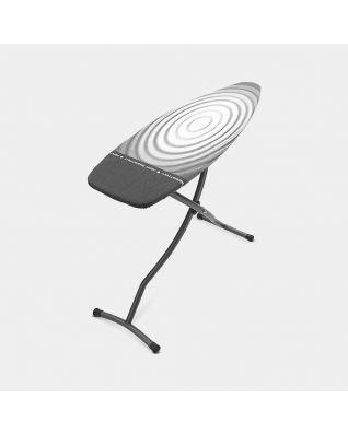 Strijkplank D 135 x 45 cm, voor stoomstrijkijzer & stoomunit - Titan Oval
