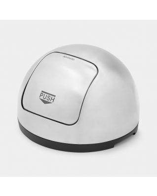 Lid Push Bin, 50 litre, diameter 40.5 cm - Matt Steel