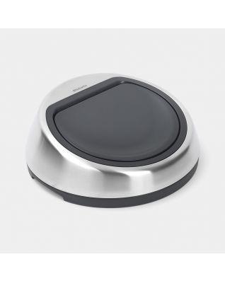 Lid Touch Bin 50 litre J-Lock - Matt Steel