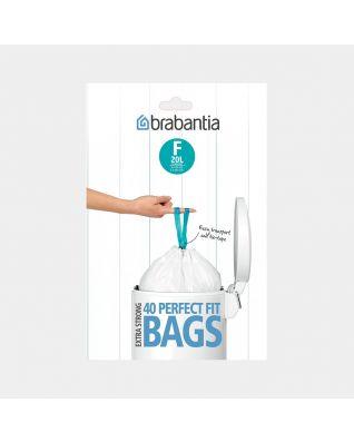 PerfectFit vuilniszakken Code F (20 liter), Slimline, Dispenser Pack, 40 stuks