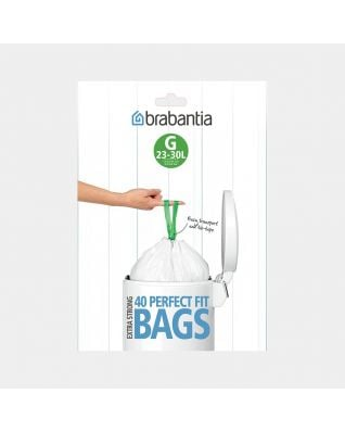 PerfectFit Bin Bags Code G (23-30 litre), Dispenser Pack with 40 Bags