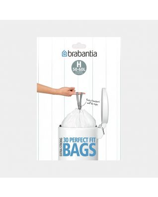 PerfectFit Bags Code H (50-60 litre), Dispenser Pack, 30 Bags