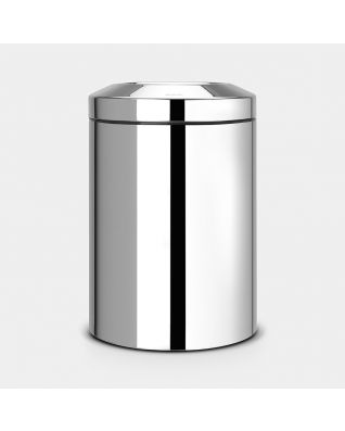 Flame Guard Waste Paper Bin 15 litre - Brilliant Steel