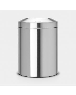 Flame Guard Waste Paper Bin 7 litre - Matt Steel