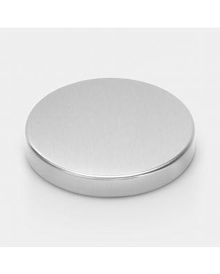 Couvercle poubelle à pédale, 5 litres, diamètre 20.5 cm - Matt Steel Fingerprint Proof