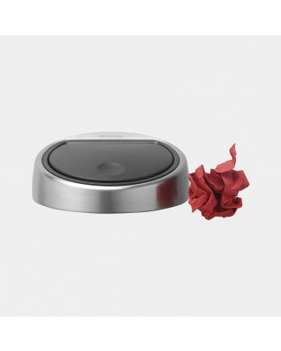 Deksel Touch Bin, 3 liter - Matt Steel Fingerprint Proof