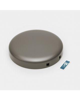 Couvercle poubelle à pédale newIcon, 5 litres - Platinum