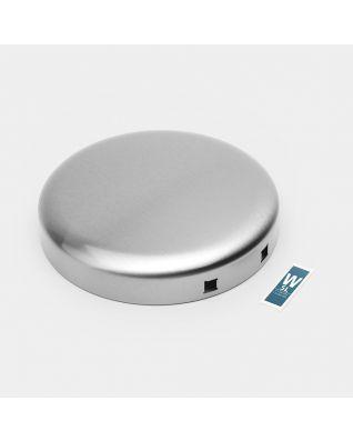 Couvercle poubelle à pédale newIcon, 5 litres - Matt Steel Fingerprint Proof