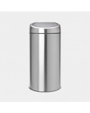 Touch Bin 45 litre - Matt Steel Fingerprint Proof