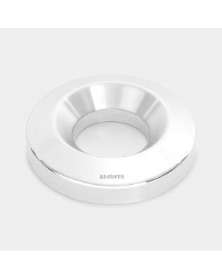 Lid for Flame Guard Waste Paper Bin, 7 litre, diameter 20.5 cm - Brilliant Steel