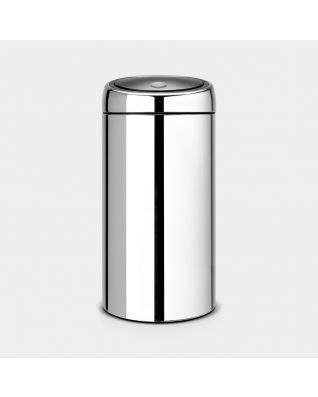 Touch Bin Recycle 2 x 20 litre - Brilliant Steel