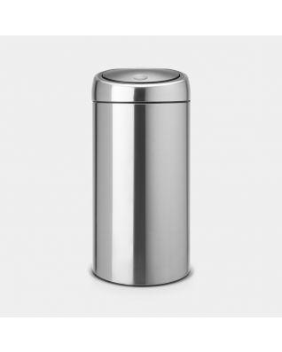 Touch Bin Recycle 2 x 20 litre - Matt Steel Fingerprint Proof
