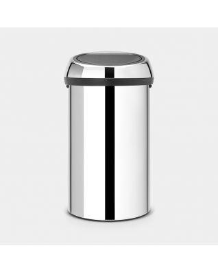 Touch Bin 60 litre - Brilliant Steel