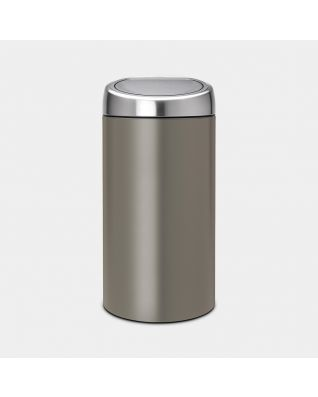 Touch Bin Recycle 2 x 20 litre - Platinum