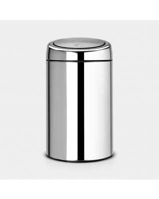 Touch Bin 20 litre - Brilliant Steel