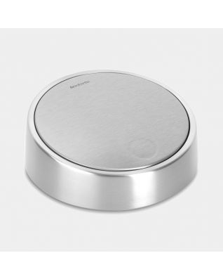 Lid for Slide Bin De Luxe, 5 litre - Matt Steel Fingerprint Proof