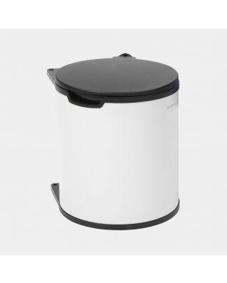 Einbaumülleimer 15 Liter - White