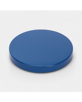 Lid Pedal Bin, diameter 30 cm - Vintage Blue