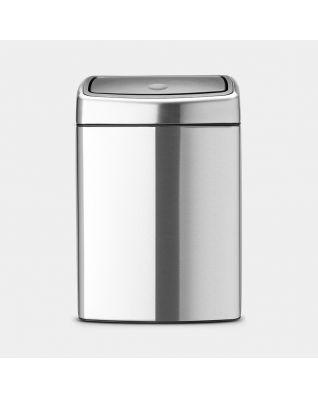 Touch Bin 10 Liter - Matt Steel Fingerprint Proof
