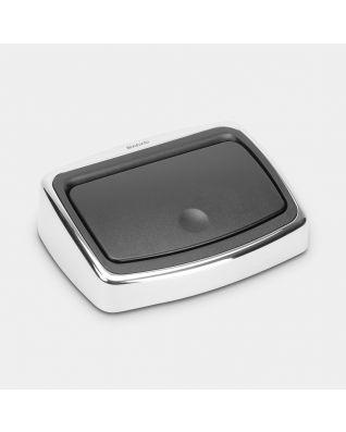 Lid Touch Bin, 10 litre - Brilliant Steel