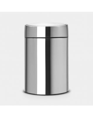 Slide Bin, 5 litres Matt Steel Fingerprint Proof