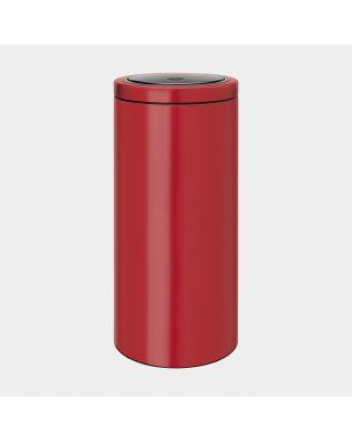 Touch Bin, 30 litros, tapa plana, cubo interior de plástico - Passion Red