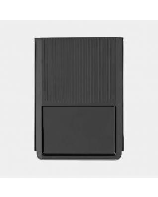 Plaque supérieur pour poubelle encastrable, 3x10 litres - Black