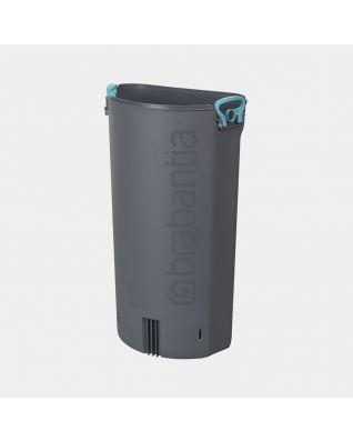 Plastic Inner Bucket Pedal Bin FlatBack+, 30 litre - Grey