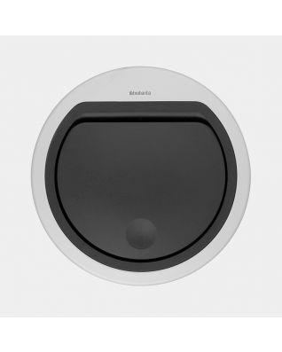 Couvercle plat Touch Bin 30 litres ou 20 litres, - Metallic Grey