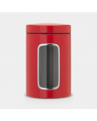 Window Canister 1.4 litre - Passion Red