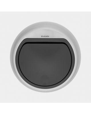 Lid Touch Bin, 50 litre - Matt Steel