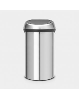 Touch Bin 60 litre - Matt Steel Fingerprint Proof