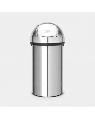 Push Bin 60 litre - Matt Steel
