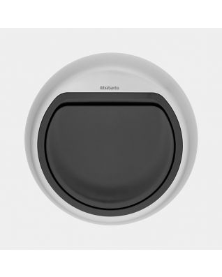 Lid Touch Bin 60 litre - Matt Steel Fingerprint Proof