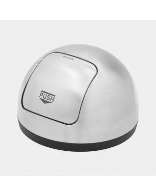 Service Head Push Bin, 60 litre - Matt Steel