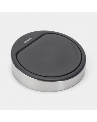 Lid Touch Bin New, 30 litre or 20 litre - Matt Steel