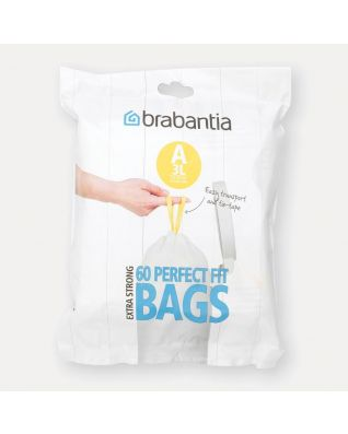 PerfectFit Bags Code A (3 litre), Dispenser Pack, 60 Bags