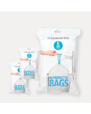 PerfectFit vuilniszakken Code E (20 liter), 3 Dispenser Packs, 120 stuks
