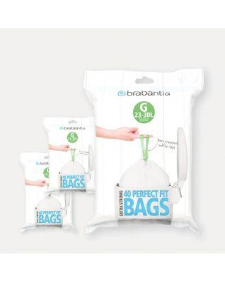 PerfectFit vuilniszakken Code G (23-30 liter), 3 Dispenser Packs, 120 stuks