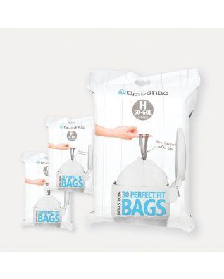 PerfectFit vuilniszakken Code H (50-60 liter), 3 Dispenser Packs, 90 stuks
