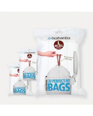 Sacs PerfectFit Code L (45 litres), 3 distributeurs, 90 sacs