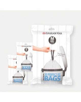 PerfectFit vuilniszakken Code M (60 liter), 3 Dispenser Packs, 90 stuks