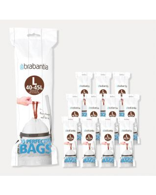 PerfectFit Bags Code L (45 litre), 12 rolls of 10 bags