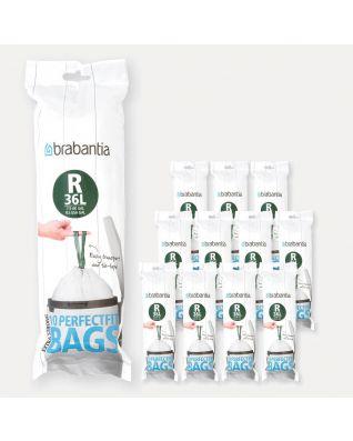 Sacs PerfectFit Pour Bo, Code R (36 litres), 12 rouleaux de 10 sacs