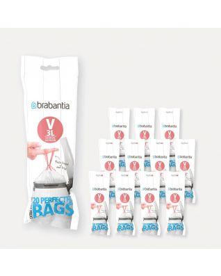 PerfectFit Bags Code V (3 litre), 12 rolls of 20 bags