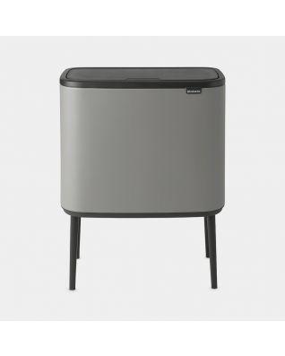 Bo Touch Bin 3 x 11 litre - Mineral Concrete Grey