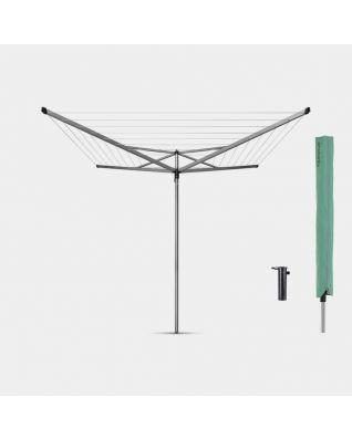 Séchoir Essential 40 mètres, avec douille plastique et housse, Ø 35 mm - Metallic Grey