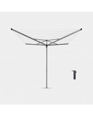 Séchoir Essential 50 mètres, avec douille plastique, Ø 35 mm - Metallic Grey