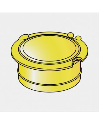 Groundspike Lid, Ø 50 mm - Yellow